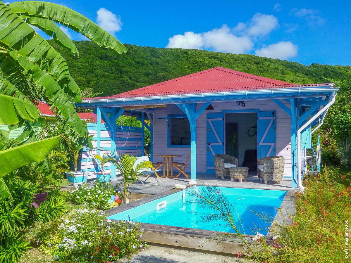 Tikaz cannelle location d 39 une petite villa avec piscine - Bungalow guadeloupe piscine privee ...